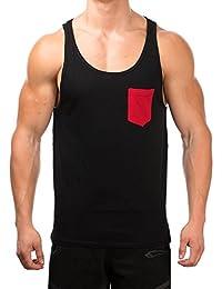 SMILODOX Tank Top Herren mit Brustasche   Muskelshirt ideal für Sport Gym Fitness & Bodybuilding   Muscle Shirt - Stringer - Tanktop - Unterhemd - Achselshirt