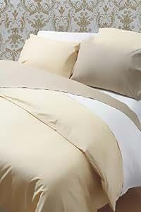 Coton égyptien 200 fils pour lit Super King Drap-housse Blanc 46 x 46 cm-Profondeur: