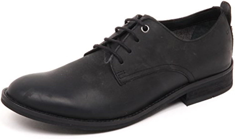 E5372 Scarpa Classica uomo Black Gaudi' Scarpe Vintage Effect Shoe Man -