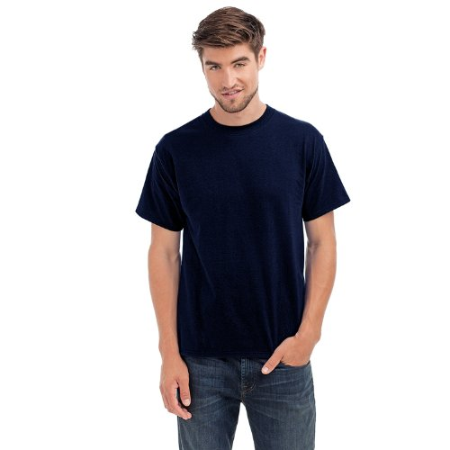 hanes-beefy-t-herren-t-shirt-rundhalsausschnitt-einfarbig-dunkelblau-xl