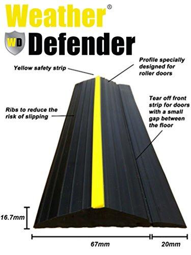 Wetter Defender Heavy Duty 2.3/m Garage Door Bodendichtung Strip mit selbstklebend