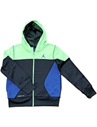 dda2a2ba5009 Nike Boys Air Jordan Therma Fit Full Zip Hooded Jacket Color Block