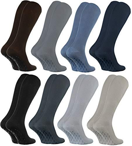 Rainbow Socks - Damen Herren Anti Rutsch Diabetiker Kniestrümpfe - 8 Paar - Classic - Größen: EU 39-41