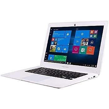 """Prixton PC14 - Ordenador portátil de 14.1"""" (Intel Atom Baytrail Z3735F, 2 GB de RAM, 32 GB eMMC, Windows 10) color blanco – teclado QWERTY español"""
