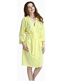 1d3fff1b1f HUIFEI Autumn and winter waffle fabric warm cardigan long sleeve men and  women couple pajamas new
