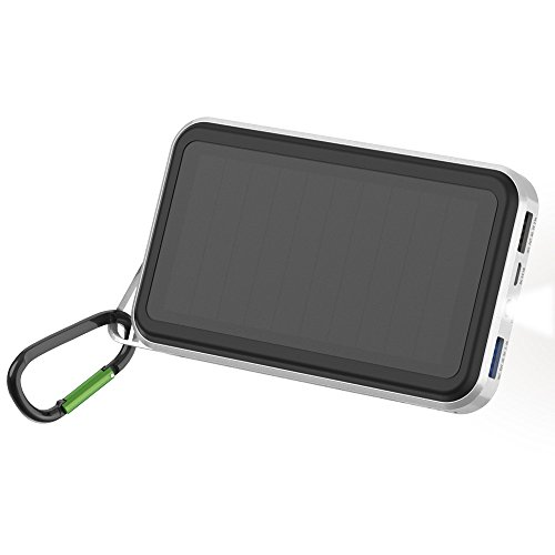 Solar Powerbank ALLPOWERS 15000mAh Solar Ladegerät mit SunPower-Solarmodulen & Dual USB Ausgang, iSolar-Technologie, 3.4A Quick Charge-Ausgang für Handy, iPhone, iPad, Huawei, Samsung