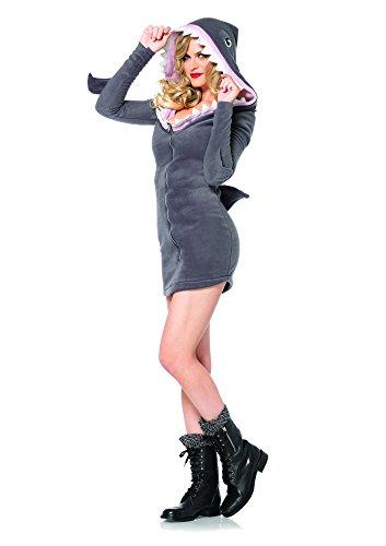 Avenue Kapuzen Leg Kostüme (Leg Avenue 85312 - Cozy Shark Kostüm, Größe M,)