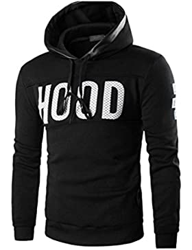 FAMILIZO Hombres De Invierno Slim Hoodie Caliente Sudadera Con Capucha Abrigo Outwear Pullover Tops