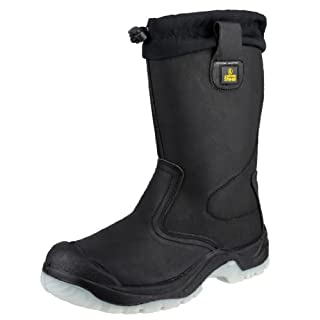 Amblers Steel FS209 Safety Pull On / Mens Boots / Riggers Safety (9 UK) (Black)