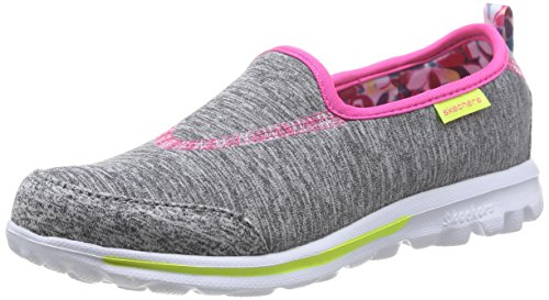 Skechers Go Walk Interval Mädchen Ballerinas, Grau (Grey Multi), 32 EU