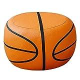Schemel Hocker Hocker Schuhe Hocker Hocker Sofa Hocker Kinderhocker Couchtisch Hocker Leder Bank Basketball Cartoon Geschenk (Color : Orange, Size : 40 * 40 * 25cm)