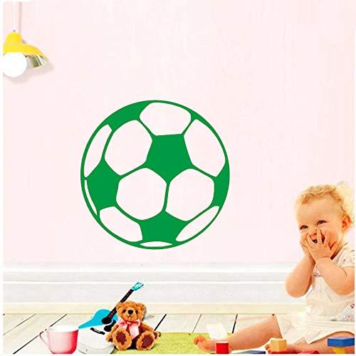 yiyiyaya Wandaufkleber Kinder BabyRaumdekorationAbziehbilder Fußball Wandbild Kunst SportKinderzimmerPoster Tapete grün 44 cm X 44 cm