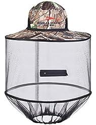 Completo sombrero para el sol sombrero de plegado de mosquitos sombrero de la pesca del sombrero respirable visor anti-insectos abeja noche sombrero de pesca