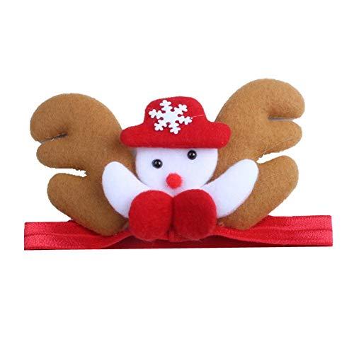 Blue Vesse Kreativer Weihnachtstag Karneval Kinder verkleiden Sich kleine Geweih Schneemann Cartoon Kinder haargurt Baby Kopf Bekleider (A)