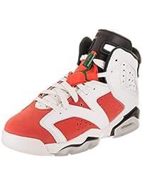 c2f7fb0fcfa9 Nike Jordan Kids Jordan 6 Retro BG Summit White Team Orange Black  Basketball…