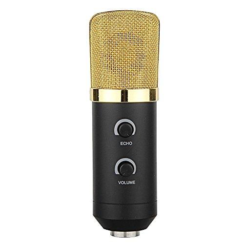 Gosear Alimentato via USB Wired Condensatore Studio Sound Recording Riverbero Microfono Mic con Schiuma Cap Cavalletto