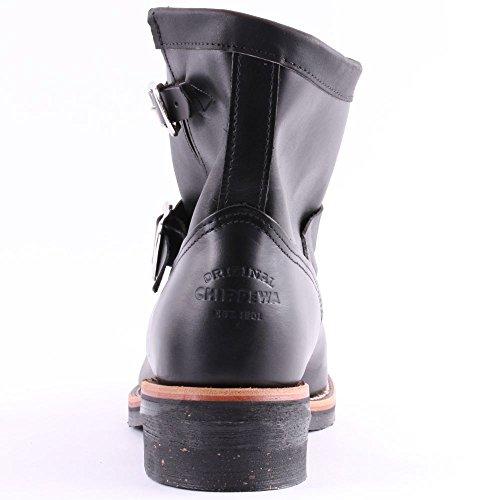 Chippewa 1901M51 Mens Leather Biker Boots Black Schwarz