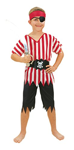 0 Pirate Boy Kostüm Budget, Small, Alter: ca. 3-5 Jahren, Pirate Boy. Budget (S) (Piraten Shirt Kinder)