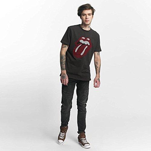 Amplified Herren Oberteile/T-Shirt Rolling Stones Tongue Era Grau