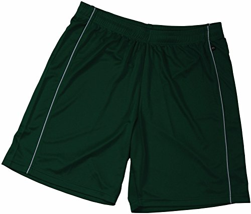 Basic Team Shorts Junior/James & Nicholson (JN 387k) XS S M L XL XXL grün,M (122-128) - Junior Mädchen Short