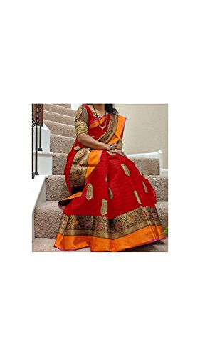 Sarees(Rajeshwar Fashion women bhagalpuri silk saree With Blouse Piece Sarees below 300 rupees party wear offer Designer Saree sarees for women latest design Sarees for women party wear sarees new col