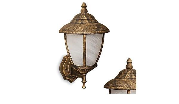 Plafoniere Rustiche Per Esterno : Lampada da esterno classico applique giardino alluminio vetro