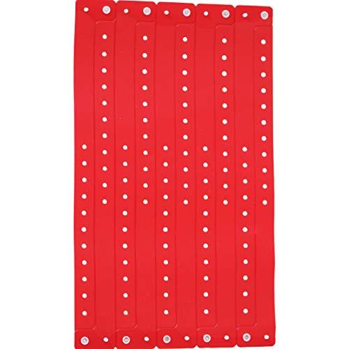 Armbänder für Veranstaltungen, Kunststoff, Vinyl, personalisierbar, wasserfest 500 rot -