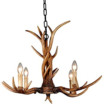 Effortinc vintage chandelier deer horn resin 4 lightsrural effortinc vintage chandelier deer horn resin 4 lightsrural countryside antler chandeliers study room aloadofball Choice Image