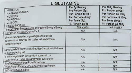 Bulk Powders L-Glutamin Pulver, geschmacksneutral, 500 g