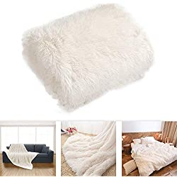 Couverture en velours flanelle super douce en polaire chaude , flanelle, blanc, B:160*200cm