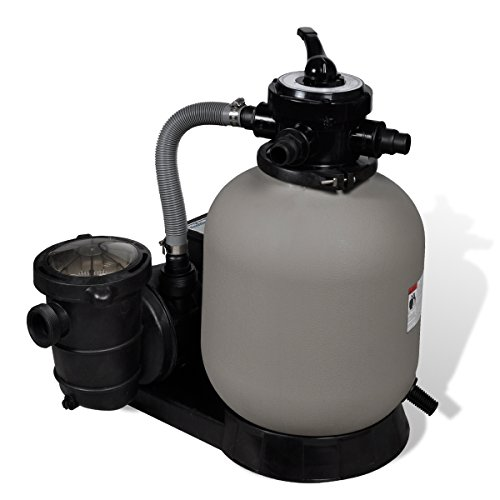 vidaXL Sandfilterpumpe 600W 17000L/h Sandfilteranlage Filteranlage Poolfilter