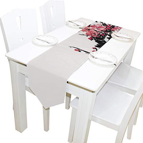 Blumen Kommode Schal Stoffbezug Tischläufer Tischdecke Tischset Küche Esszimmer Wohnzimmer Home Hochzeitsbankett Dekor Indoor 13x90 Zoll ()
