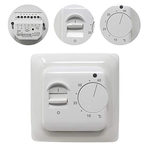 KETOTEK Fußbodenheizung Thermostat Fußbodenheizung Temperaturregler Programmierbar Wechselstrom 220V 16A Handbuch Elektrischer Thermostat Sensor (AC 220V-16A) -