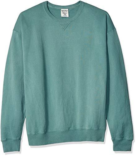 Hanes Herren Men's ComfortWash Garment Dyed Fleece Sweatshirt, Cypress Green, Groß Comfortblend Fleece Pullover Hoodie
