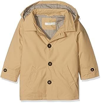 NAME IT Baby-Jungen Jacke NMMMIKKEL Trench Coat, Beige Warm Sand, 98