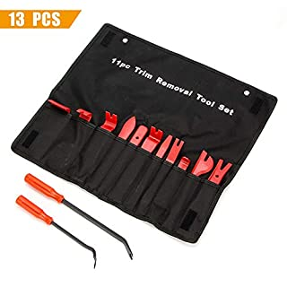 KING SHOWDEN Trim Removal Tool Set Auto Polster Werkzeuge mit Fastener Removers Starke Nylon Türverkleidung Form Dash Panel Tool Kit (13 Stück)