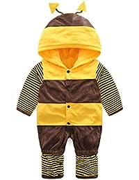 Tefamore La Ropa Bebé del Mameluco de Escalada Estilo de Modelado de Abejas Otoño Invierno para Niños