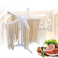 Zerone Pasta Dryer, Pasta Noodle Drying Rack Plastic Foldable Noodle Dryer with 5 Bars for Drying Fresh Pasta Spaghetti Tagliatelles Fettucine Vermicelles Lasagne