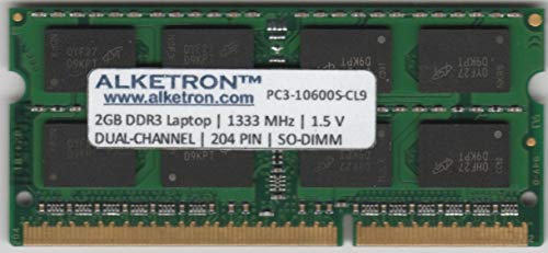 AlketronTM 2GB DDR3 RAM for Laptop/Notebook | 2GB 1333MHz SODIMM Dual Channel (100% Tested - with 3 Years Warranty)