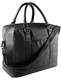 KIMOOD - sac de voyage multipoches- 29 LITRES - imitation cuir - KI0925 - noir