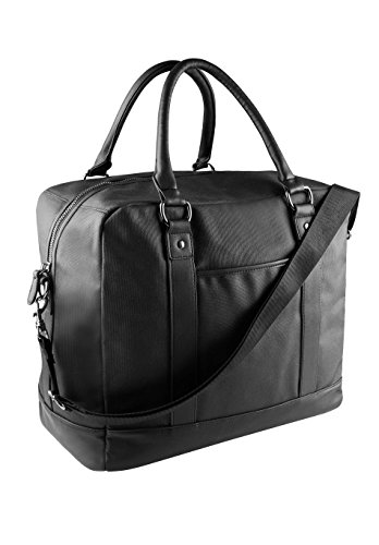 KIMOOD - sac de voyage déperlant - coton enduit - poignées imitation cuir - KI0924 - noir