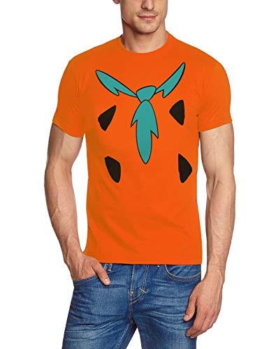 Coole-Fun-T-Shirts Fred FEUERSTEIN The Flintstones T-Shirt Orange Gr.L