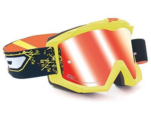 MX-Brille ProGrip 3204 FLUO MATT gelb/rot