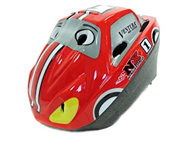 Ventura Cars Boys Cycle Helmet Red 52-56cm by Ventura