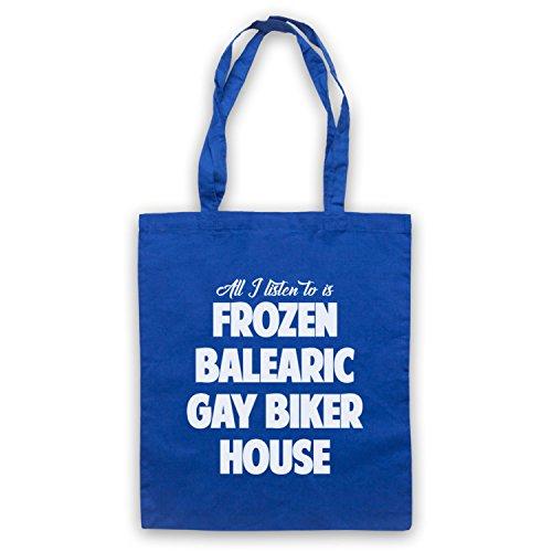 Frozen Balearic Gay Biker House Niche Dance Music Umhangetaschen Blau