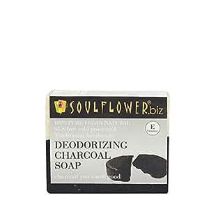 Soulflower Deodorizing Charcoal Soap, 150g