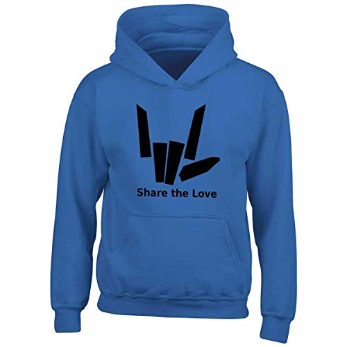 The 7 Kids Blue Girls Boys 8Royal And Love Smg® Share Sharer Children's Hoodieage nPwN8OkX0Z