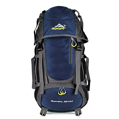 Vbiger Impermeabile zaino Trekking Sport Escursionismo Camping Grand-volume di 55 L