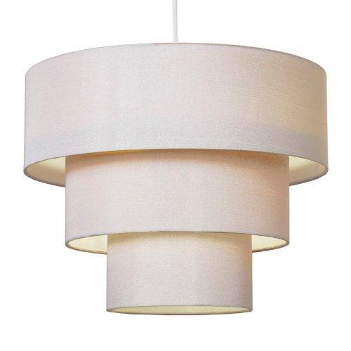 3-tier-cream-faux-silk-ceiling-shade