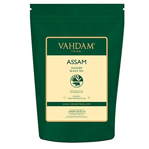 Assam Black Tea Leaves (200+ Tassen), STARK, MALTY & REICH, Loose Leaf Tee, 100% Pure Ungemischt, Single Origin Schwarztee Loose Leaf, Gebräu Heißer Tee, Eistee, Kombucha Tee, FTGFOP1 Long Leaf Grade, 454g